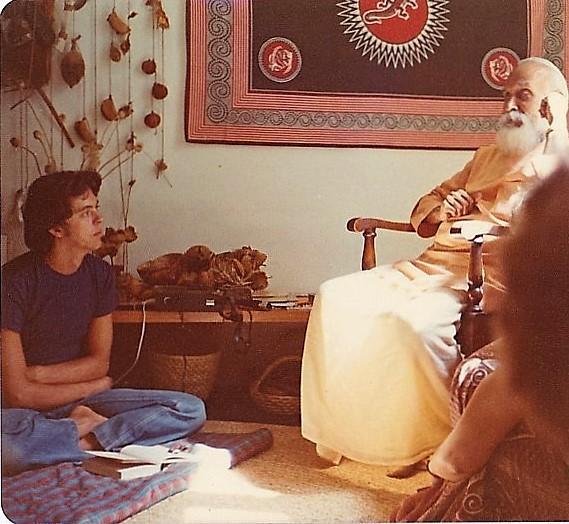 Andre with Swami Nisreyasananda